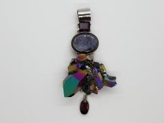 Aurora Quartz & Garnet Pendant