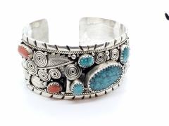 Turquoise & Carnelian Bracelet